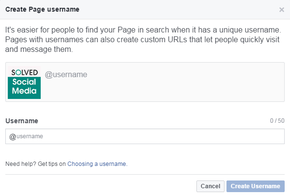 Adding A Facebook Business Page @Username | The Official